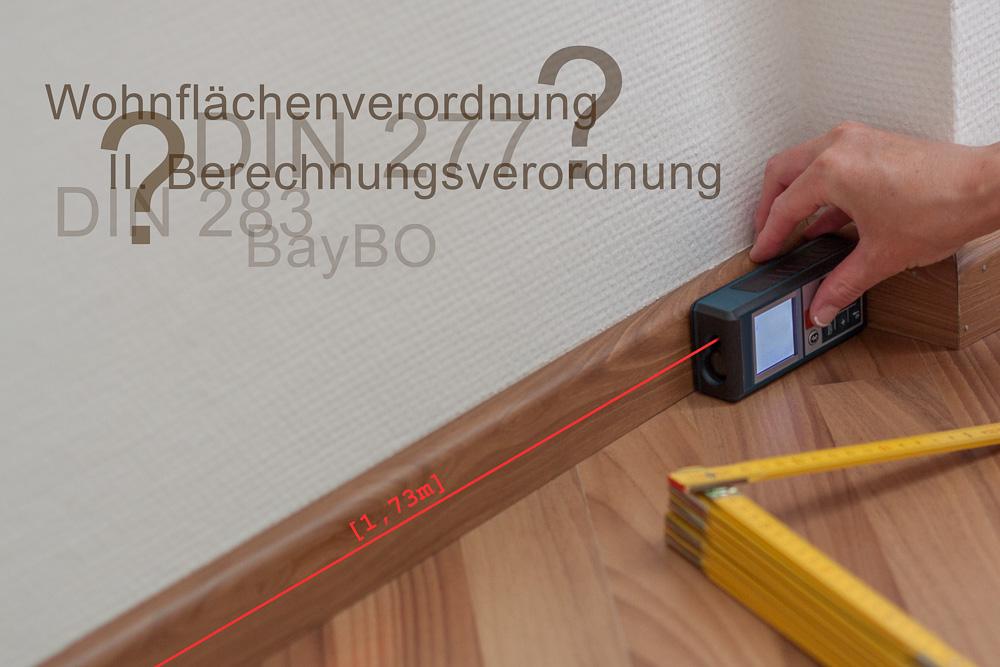 Wohnflächenberechnung Lasermessgerät Laserentfernungsmesser Aufmaß
